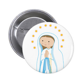 Our Lady of Lourdes Pinback Buttons