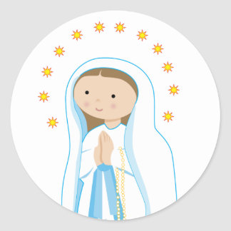 Our Lady of Lourdes Classic Round Sticker