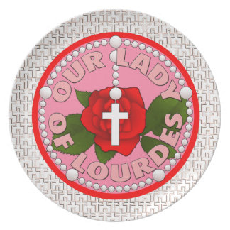 Our Lady of Lourdes Dinner Plate