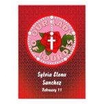 "Our Lady of Lourdes Invite 5"" X 7"" Invitation Card"