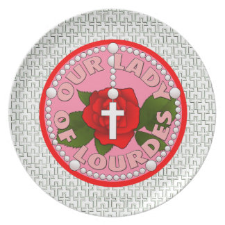 Our Lady of Lourdes Melamine Plate