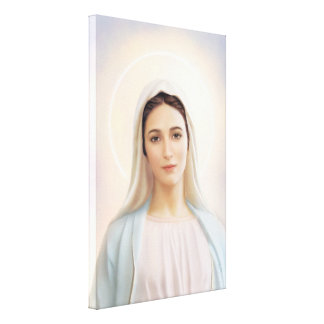 """Our Lady of Medjugorje, 24"""" x 36"""",  Canvas, 1.5"""" Canvas Print"""