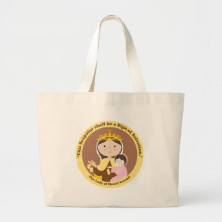 Our Lady of Mount Carmel Large Tote Bag