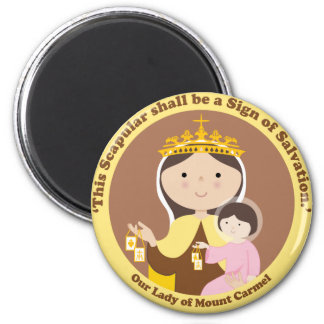 Our Lady of Mount Carmel 2 Inch Round Magnet