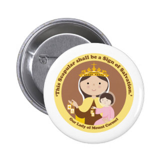 Our Lady of Mount Carmel Pinback Button