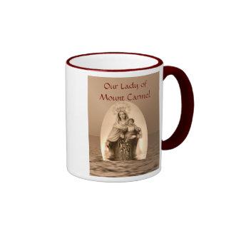 Our Lady of Mount Carmel religious holy day Ringer Mug