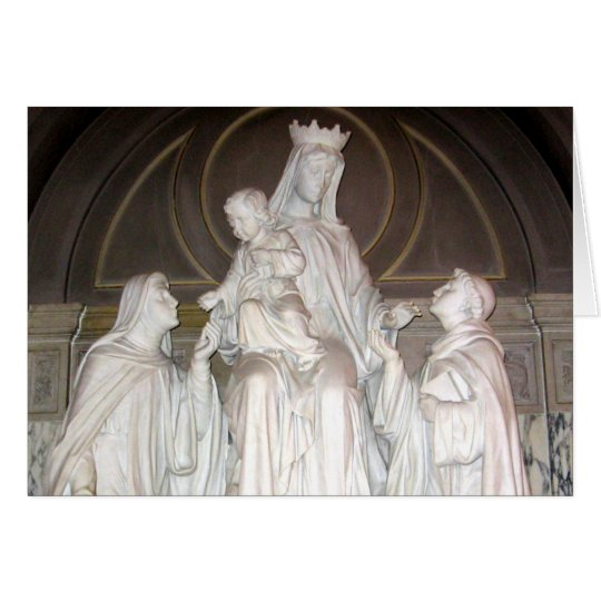 Our Lady of Mount Carmel Statue Card