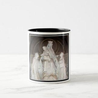 Our Lady of Mount Carmel Statue Two-Tone Coffee Mug