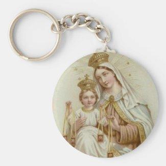 Our Lady of Mt. Carmel w/scapular & Jesus Keychain
