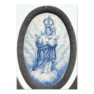 "Our Lady of Peace 5"" X 7"" Invitation Card"