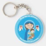 Our Lady of Perpetual Help Basic Round Button Keychain