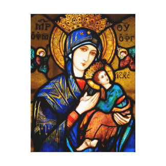 our lady of perpetual help canvas print