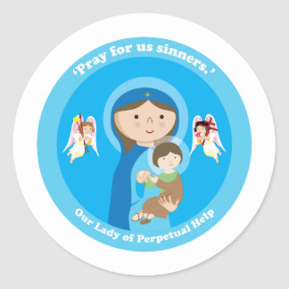 Our Lady of Perpetual Help Classic Round Sticker