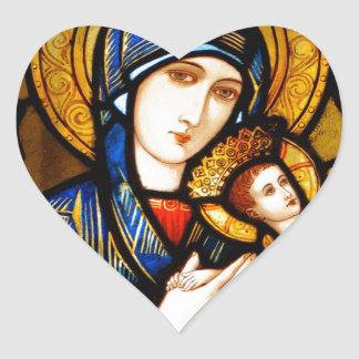 our lady of perpetual help heart sticker