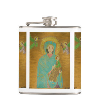 Our Lady of Perpetual Help Hip Flask
