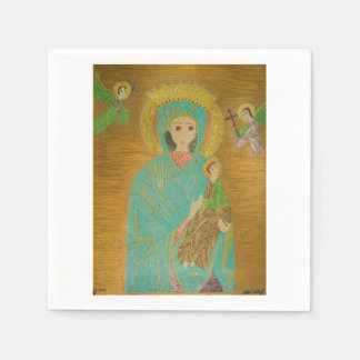 Our Lady of Perpetual Help Paper Napkin