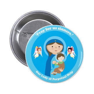 Our Lady of Perpetual Help Pinback Button