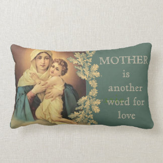 Our Lady of Schoenstatt Virgin Mary Jesus MOTHER Lumbar Pillow