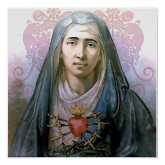Our Lady of Sorrows Altar Poster