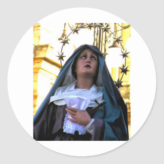 Our Lady of Sorrows Classic Round Sticker