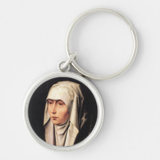 Our Lady of Sorrows Silver-Colored Round Keychain
