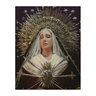 Our Lady of Sorrows Wood Wall Art