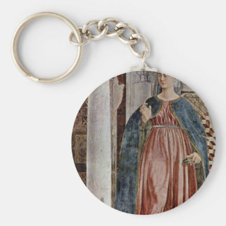 Our Lady Of The Annunciation., By Piero Della Basic Round Button Keychain