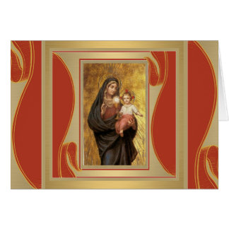 Our Lady of the Blessed Sacrament Virgin Mary Jesu Card