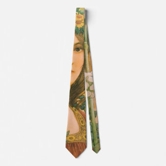 Our Lady of the Cow Parsley 1910 Neck Tie
