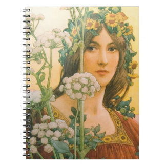Our Lady of the Cow Parsley 1910 Spiral Notebook