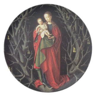 Our Lady of the Dry Tree c.1450 (oil on panel) Plate