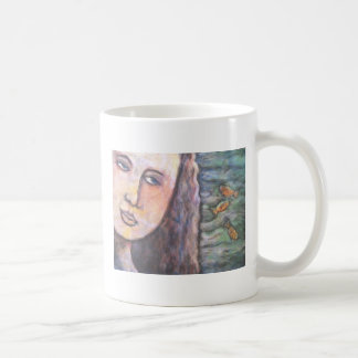 our lady of the fishes II 1 side Classic White Coffee Mug