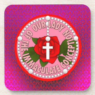 Our Lady of the Immaculate Conception Drink Coaster