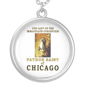 OUR LADY of the IMMACULATE CONCEPTION Round Pendant Necklace