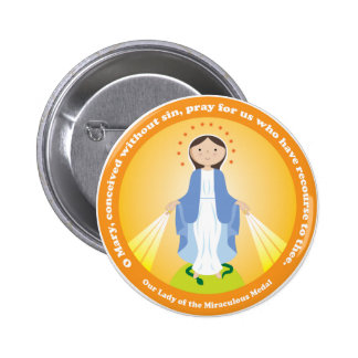 Our Lady of the Miraculous Medal Button
