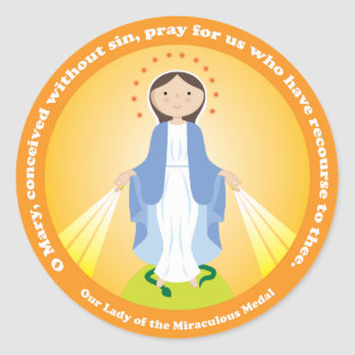 Our Lady of the Miraculous Medal Classic Round Sticker