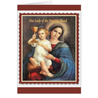 Our Lady of the Precious Blood of Jesus Card