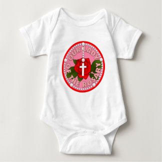 Our Lady of the Rosary Baby Bodysuit