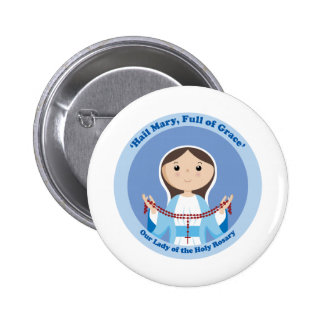 Our Lady of the Rosary Button