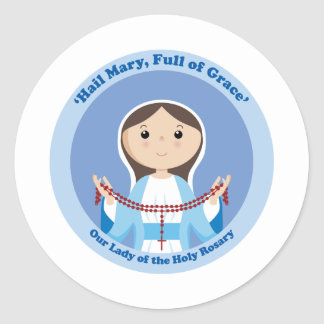 Our Lady of the Rosary Classic Round Sticker