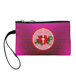 Our Lady of the Rosary Coin Wallet