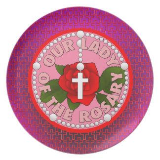 Our Lady of the Rosary Dinner Plate