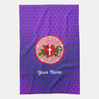 Our Lady of the Rosary Hand Towel