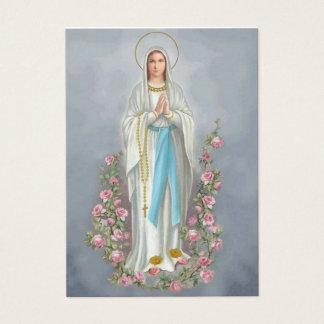 Our Lady of the Rosary Lourdes Memorare Prayer Business Card