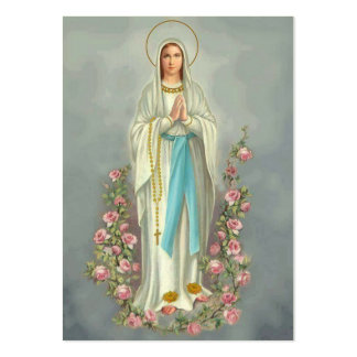 Our Lady of the Rosary Lourdes Memorare Prayer Large Business Card
