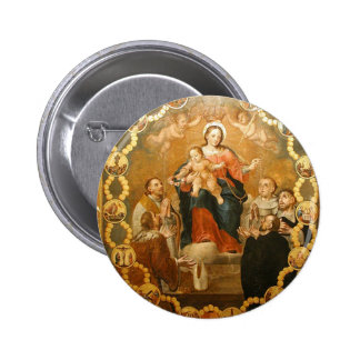 OUR LADY OF THE ROSARY PINBACK BUTTON