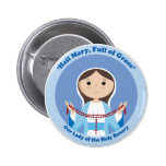 Our Lady of the Rosary Pinback Buttons