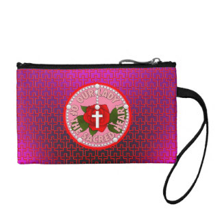 Our Lady of the Sacred Heart Coin Wallet