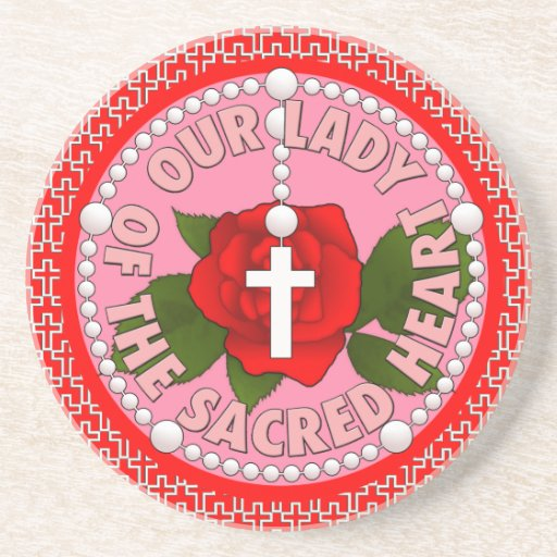 Our Lady of the Sacred Heart Drink Coasters