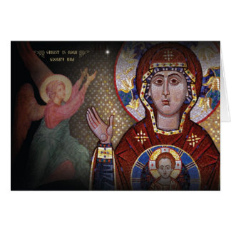 Our Lady of the Sign Orthodox Christmas card